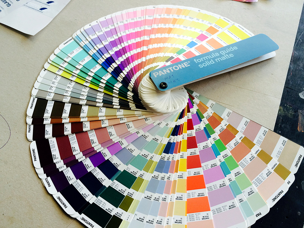 μεταξοτυπιες παντον, screen printing Pantone matching system